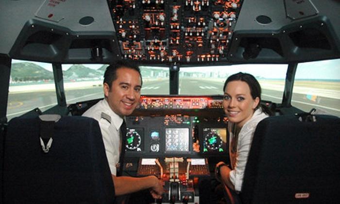 Flightdeck Air Combat Center - Anaheim: $39 for a 30-Minute Boeing 737 Flight-Simulator Experience with Instruction at Flightdeck Air Combat Center in Anaheim ($89 Value)