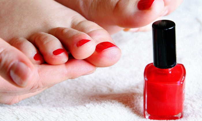 Maddie Feher - Beachwood: One or Three Vinyl Manicures or One Spa Pedicure from Maddie Feher (Up to 53% Off)