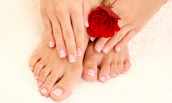 Queen Nail - Knoxville: One Spa Manicure and Pedicure or Two Spa Pedicures with Cucumber Mint Scrubsat Queen Nail (Up to 54% Off)