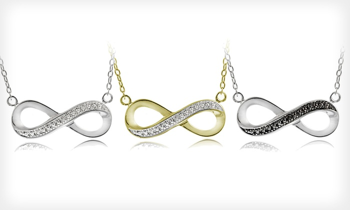 Diamond-Accented Infinity Necklaces: Infinity Necklaces (Up to 83% Off). Three Options Available. Free Shipping on Purchases of $15 or More. Free Returns.