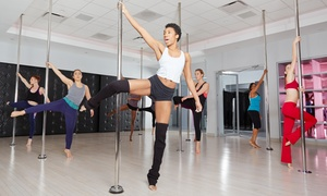 The Body Club: 10 or 20 Pole Fitness Classes or One Month of Unlimited Fitness Classes at The Body Club  (Up to 75% Off)