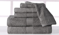 Casa Platino Plush Low-Twist Cotton Bath Towel Set (6-Piece)