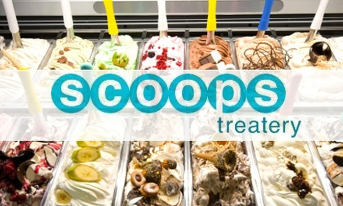 Scoops Treatery - Camelot Estates: $3 for $6 Worth of Delectable Premium Ice Cream, Frozen Yogurt, and More at Scoops Treatery