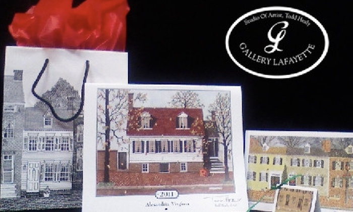 Gallery Lafayette - Old Town: $25 at Gallery Lafayette for 10 Holiday Cards, an Alexandria Calendar, and Gift Bag ($52 Value)