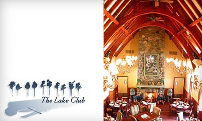 The Lake Club - Castleton Corners: $25 for $50 of Upscale Continental Fare at The Lake Club on Staten Island