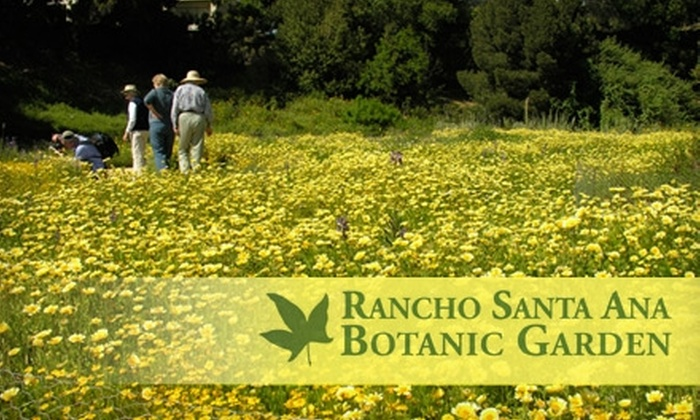 Rancho Santa Ana Botanic Garden - Claremont: $4 for an Adult-Admission Pass ($8 Value) or $12 for a Family-Admission Pass ($24 Value) to Rancho Santa Ana Botanic Garden