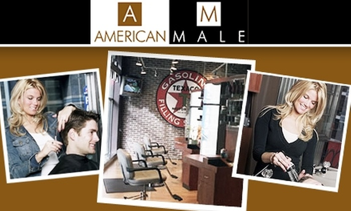 American Male ReadingSalon - Multiple Locations: $30 Haircut and Manicure at American Male (Up to $68 Value)