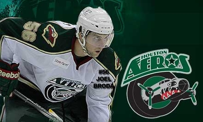 Houston Aeros - Houston: $22 for Two Corner-Seat Ticket Vouchers, Parking, and an On-Ice Photo at a Houston Aeros Game ($79 Value). Choose from Four Games.
