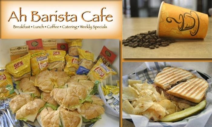 Ah Barista - Downtown Indianapolis: $5 for $12 Worth of Scrumptious Breakfast, Lunch, & Coffee at Ah Barista