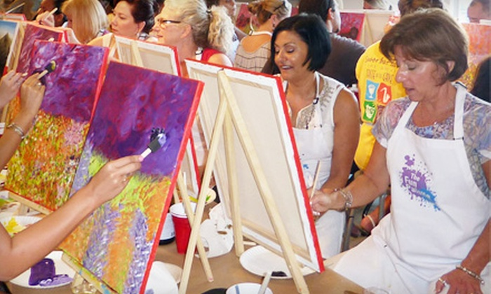 The Fun Palette - Ojus: BYOB Painting Class for One or Four at The Fun Palette