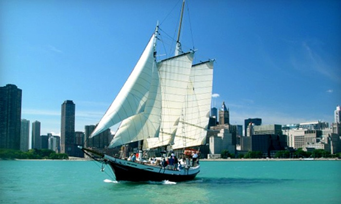 Tall Ship Red Witch - Kenosha Harbor: Evening or Moonlight Skyline Cocktail Cruise for One from Tall Ship Red Witch (53% Off)