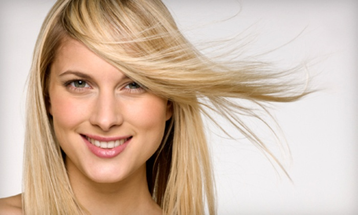 Taylor/Brooks Hair Salon - Cannery Village Assoc: Salon Package with Highlights, or Men's or Women's Haircut at Taylor/Brooks Hair Salon in Johns Creek (Up to 73% Off)