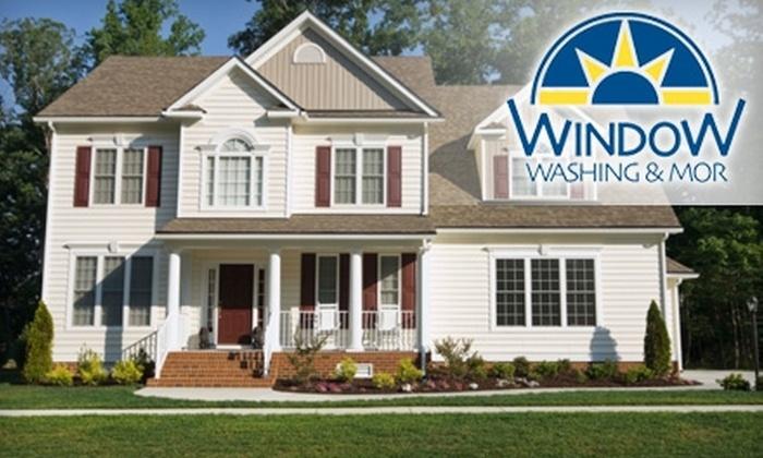 Window Washing & Mor - Wayne: $55 for Window Washing ($110 Value), $55 for Gutter Cleaning ($110 Value), or $85 for Window Washing and Gutter Cleaning ($180 Value) from Window Washing & Mor