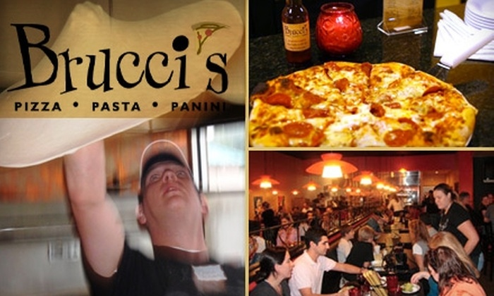 Brucci's - Multiple Locations: $9 for $20 Worth of Pizza, Pasta, Paninis, and More at Brucci's