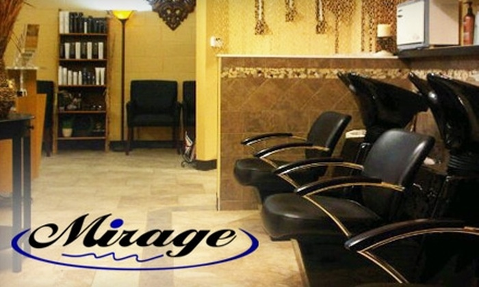 Mirage Salon - Rockford: $32 for a Women's Haircut and Highlight Color Treatment ($65 Value) or $150 for a Brazilian Blowout ($299 Value) at Mirage Salon