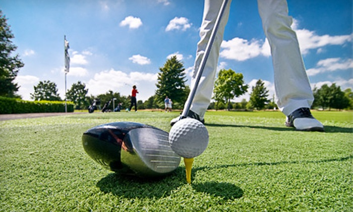 The Golf Village - Pineville: $20 for $50 Worth of Range Balls and Rounds of Golf at The Golf Village in Pineville