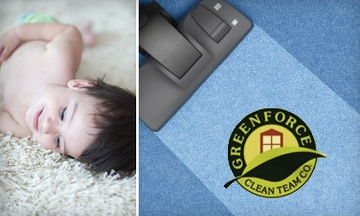 Greenforce Clean Team - San Francisco: $49 for One Room of Carpet Cleaning from Greenforce Clean Team ($99 Value)