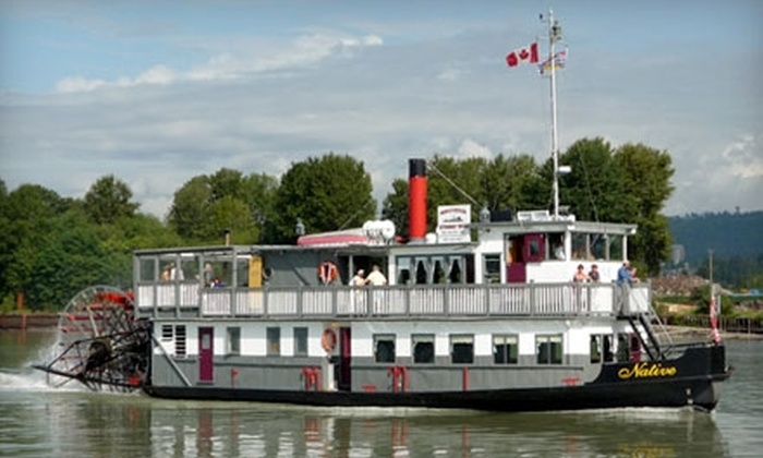 51 off paddleboat tickets in new westminster paddlewheeler groupon
