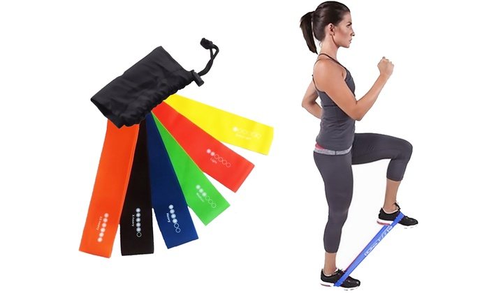 Six Vivo Level Exercise Resistance Loop Bands (£3.99)
