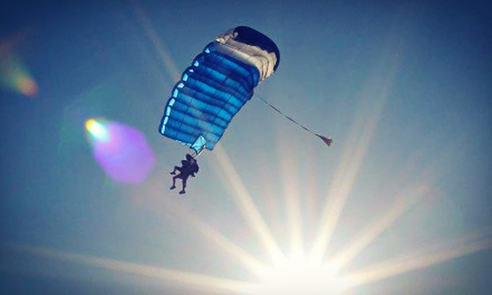 Skydive White Sands - Alamogordo: Tandem Skydive for One or Two People with Handheld Cameras at Skydive White Sands (Up to 52% Off)