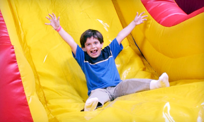 Jump Parties - Ronkonkoma: Three Open-Jump Visits or a Birthday Party for Up to Eight with a Party Room and Pizza at Jump Parties (Up to 54% Off)