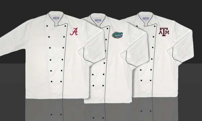 NCAA Premium Chef Coats: NCAA Premium Chef Coat. Multiple Schools Available. Free Returns.