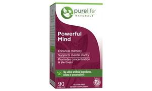 Purelife Naturals Powerful Mind 90 Count