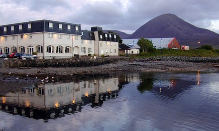 Isle of Skye: Double Room for Two with Breakfast, Glass of Wine and Optional for Dinner Credit at The Dunollie Hotel