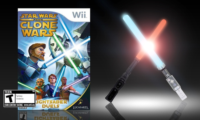 DreamGEAR Dual Lightsaber and Star Wars Game Bundle: DreamGEAR Dual Lightsaber and Star Wars: The Clone Wars Bundle for Wii. Free Returns.