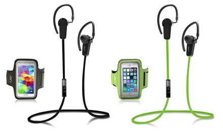 Jarv NMotion Bluetooth 4.0 Earbuds with Universal Sports Armband