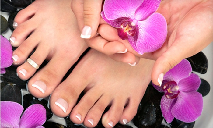Looks Salon - Madison Woods: $19 for a Manicure and Pedicure at Looks Salon in Greensboro ($40 Value)