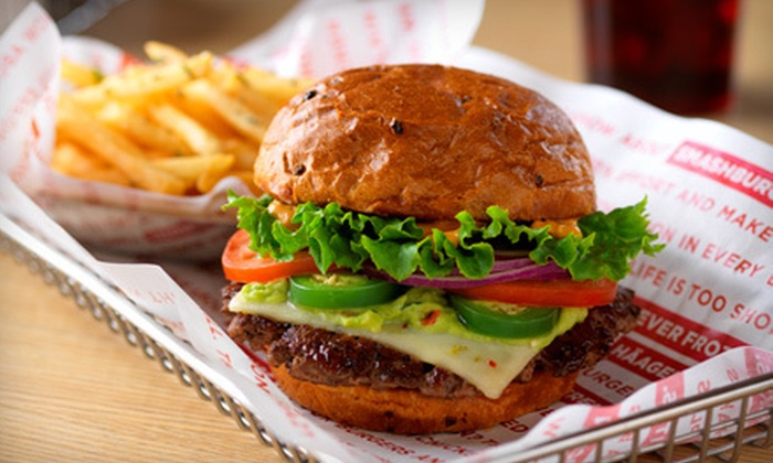 Smashburger - Millard: $6 for $12 Worth of Burgers and American Fare at Smashburger. Two Locations Available.