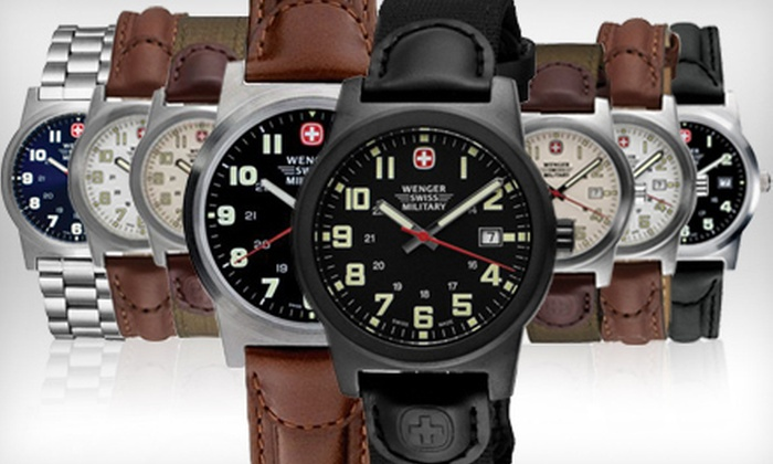 55 For A Wenger Swiss Military Watch Groupon
