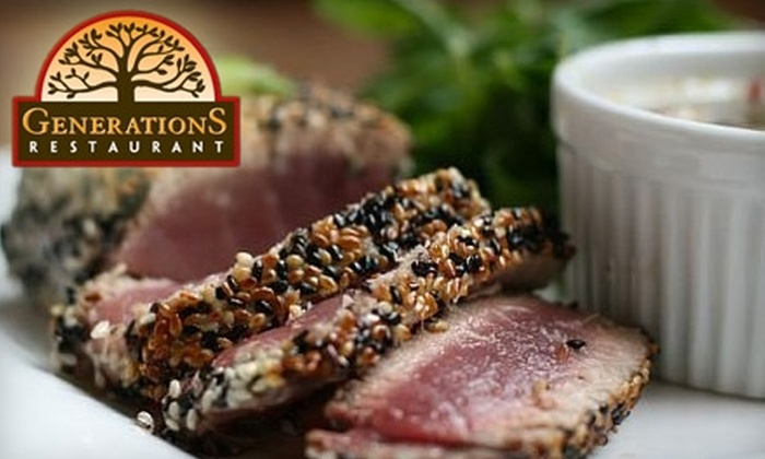 Generations Restaurant - Upper Providence: $20 for $40 Worth of Contemporary American Cuisine at Generations Restaurant in Media