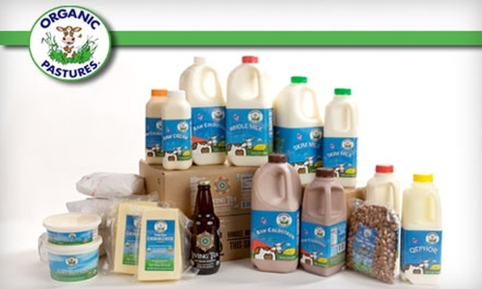 Organic Pastures Dairy Company - Multiple Locations: $10 for $20 Worth of Raw Milk and Other Organic Goods from Organic Pastures Dairy Company