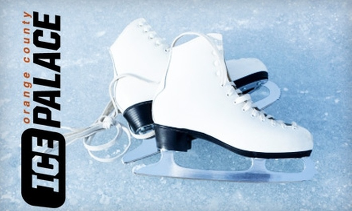Orange County Ice Palace - Yorba Linda: $12 for Admission and Skate Rental for Two or $55 for Learn to Skate Session at the Orange County Ice Palace in Yorba Linda