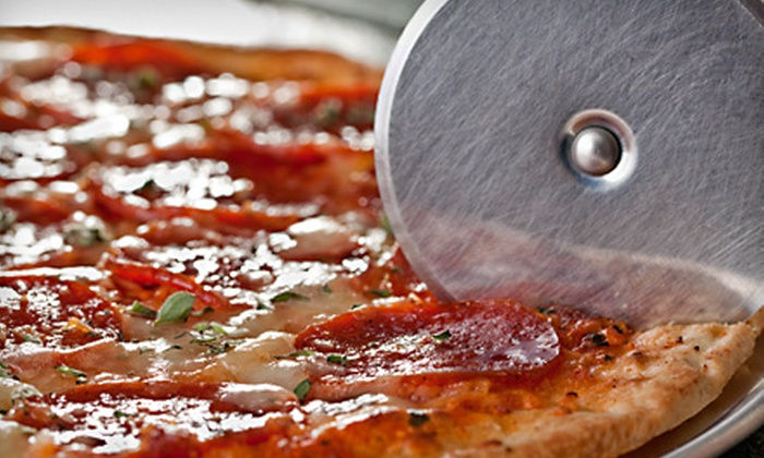 City Pizza and Pasta - Meadowglen: Two Medium St. Louis–Style Pizzas or a Game Day Pizza Package at City Pizza and Pasta in Arvada (Up to 52% Off)