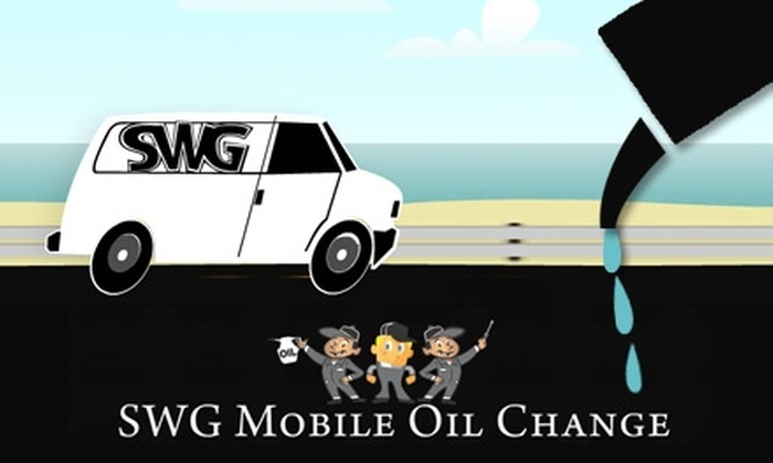 SWG Mobile Oil Change - San Diego: $17 for an On-Location Oil Change from SWG Mobile Oil Change
