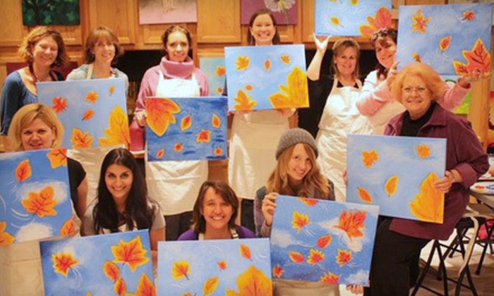 artventureUs - Gaithersburg: 2.5-Hour Weekday or Sunday Social Painting Class or 3-Hour Saturday Social Painting Class at artventureUs in Gaithersburg (Half Off)