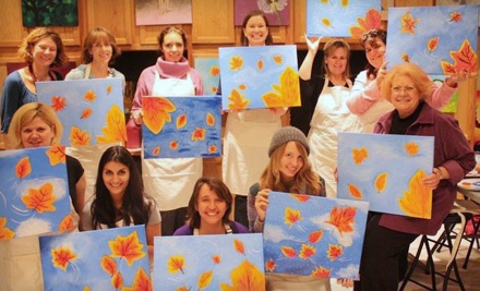2.5-Hour Weekday or Sunday Social Painting Class (a $40 value) - artventureUs in Gaithersburg