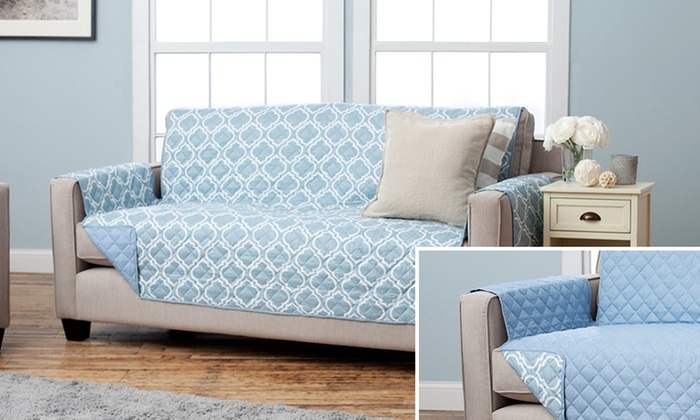 Reversible Furniture Protector  Home Fashion Designs Reversible Quilted  Geometric Furniture Protector  Home Fashion Designs Reversible Furniture Protector   Groupon. Home Fashion Design. Home Design Ideas