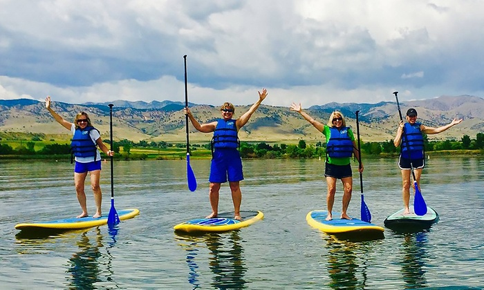 Rocky Mountain Paddleboard - Multiple Locations: Standup Paddleboard Rental or Lesson from Rocky Mountain Paddleboard (40% Off). Three Options Available.
