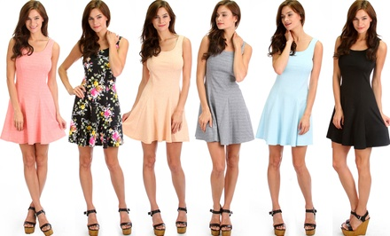 Lyss Loo From Here To Flare Skater Dress
