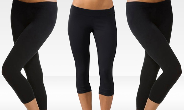 Yoga Leggings 3-Pack: Yoga Leggings 3-Pack. Multiple Sizes Available. Free Shipping and Returns.