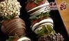 Shari's Berries - Albuquerque: $25 for Nine Hand-Dipped Strawberries in a Velvet Heart Box from Shari's Berries ($49.99 Value)