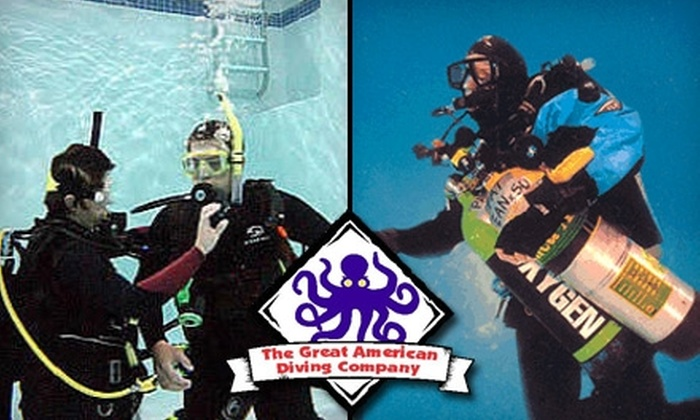 The Great American Diving Company - Multiple Locations: $10 for a Discover Scuba Experience at The Great American Diving Company ($25 Value)