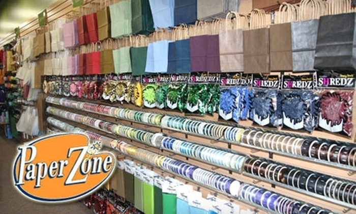 Paper Zone - Multiple Locations: $10 for $20 Worth of Card-Making Materials, Holiday Gift Wrap, Party Supplies, and More at Paper Zone
