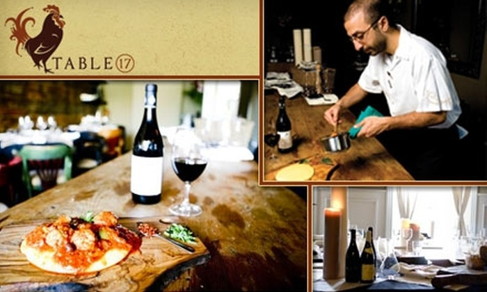 Table 17 - Riverdale: $25 for $50 Worth of Upscale Fare and Wine at Table 17