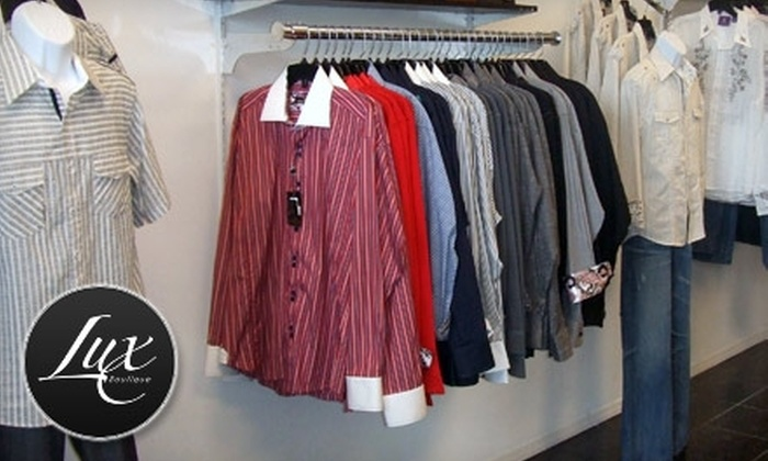 Lux Boutique - Naples: $30 for $60 Worth of Men's and Women's Designer Apparel at Lux Boutique