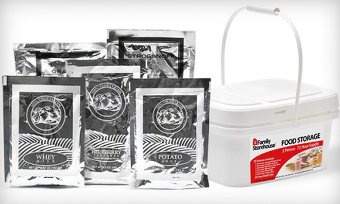 Family Storehouse - American Fork: 72-Hour Emergency Meal Kit for Two for Pickup or Delivery from Family Storehouse in American Fork (Half Off)